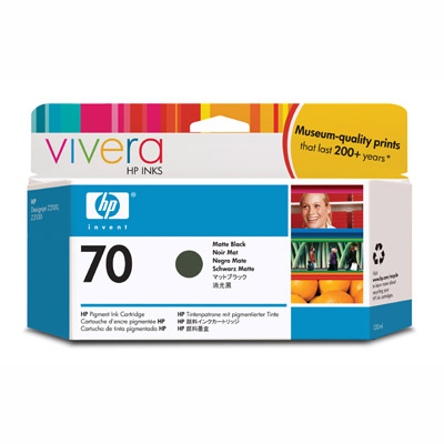 Картридж HP Pigment Ink Cartridge №70 Matte Black (Z2100/3100/3200) (C9448A) картридж hp pigment ink cartridge 72 matte black c9403a