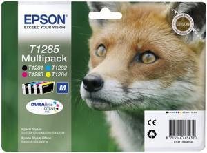 Картридж C13T12854010/C13T12854012 картридж epson c13t10554a10 черный черный пурпурный голубой желтый картридж струйный стандартная