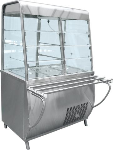 Прилавок-витрина холодильный Премьер ПВВ-70Т-С  холодильный стол охлаждаемый полюс carboma bar 250