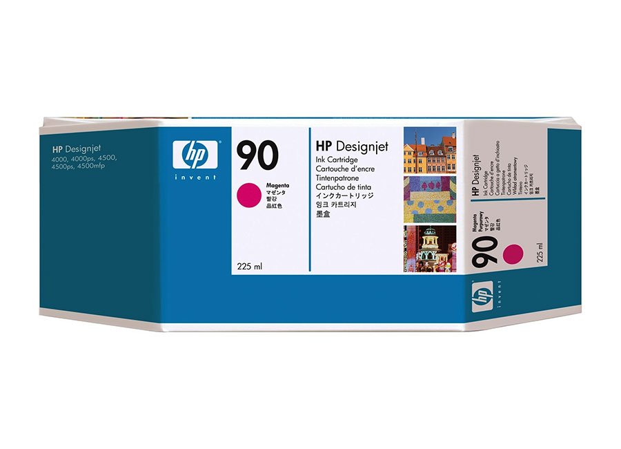 Картридж HP DesignJet Ink Cartridge HP 90 Magenta (C5062A) ink tubes system q1273 60300 q1273 60254 designjet 4000 4500ps 4520ps ink plotter printhead tube 42inch cq109 67004 q1273 60228