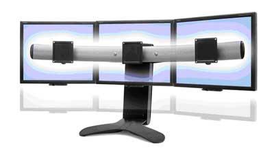 Ergotron LX Lift Stand для трех мониторов (33-296-195)