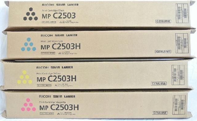 Тонер-картридж MPC2503H желтый (841926) тонер ricoh 406351