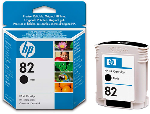 Картридж HP Inkjet Cartridge №82 Black (CH565A) картридж hp inkjet cartridge 90 black c5058a