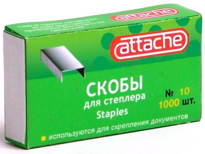Скобы к степлеру N10 Attache (1000шт/уп) Компания ForOffice 6.000