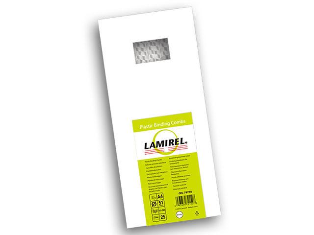 Пластиковая пружина Lamirel, диаметр 51 мм, белая, 25 шт