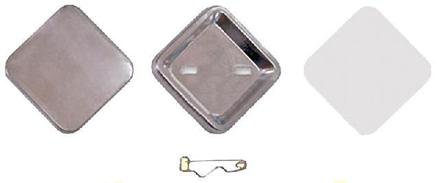 Заготовки для значков   37х37 мм, булавка, 100 шт