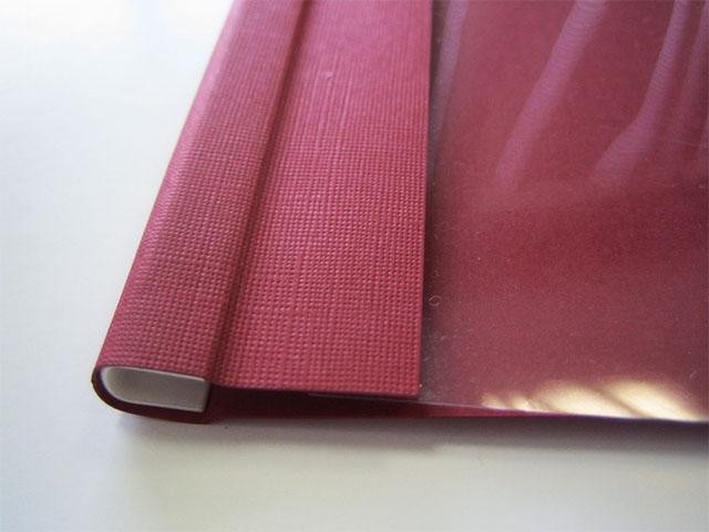 Мягкие обложки C-BIND A4 O.SOFTCLEAR AA (5 мм) с текстурой «лен», бордо