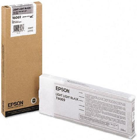 Картридж повышенной емкости со светло-серыми чернилами   T6069 (C13T606900) картридж c13t606900 epson для stylus pro 4880 220 мл светло светло черный c13t606900