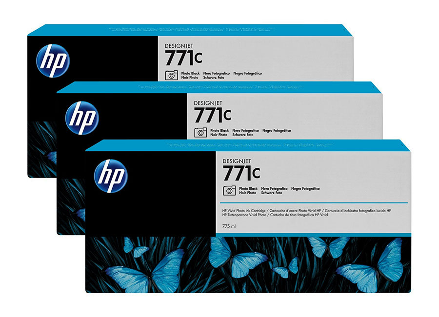 Набор картриджей HP Designjet 771 CR257A Light gray 3x775 мл (B6Y38A) hot sales 80 printhead for hp80 print head hp for designjet 1000 1000plus 1050 1055 printer