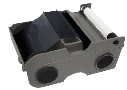 Картридж с лентой и чистящим валиком полимерная черная лента улучшенная Fargo 45111