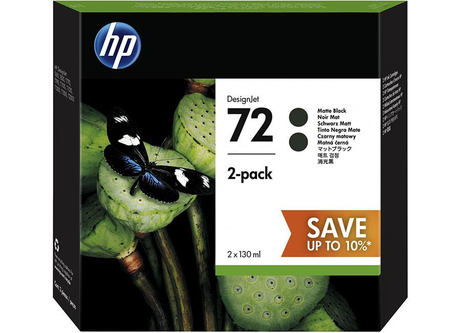 Набор картриджей HP Designjet 72 Matte Black 2x130 мл (P2V33A) ijc236 130 ml matte black 1828b003