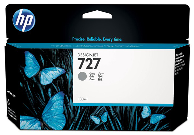 Картридж HP Pigment Ink Cartridge №727 Gray (B3P24A) картридж hp pigment ink cartridge 727 cyan b3p19a
