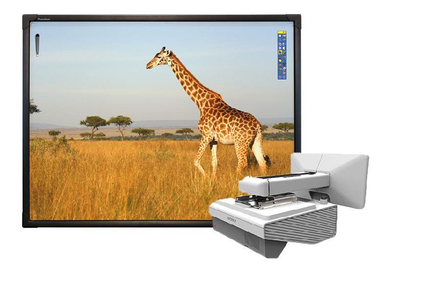 Интерактивная доска ActivBoard Touch 78 10 касаний, ПО ActivInspire в комплекте с проектором Sony VPL-SX631 и креплением Sony PSS-645