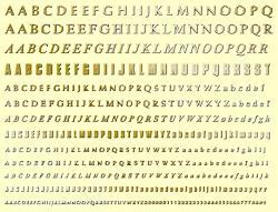 Комплект шрифтов для английского языка 9 мм