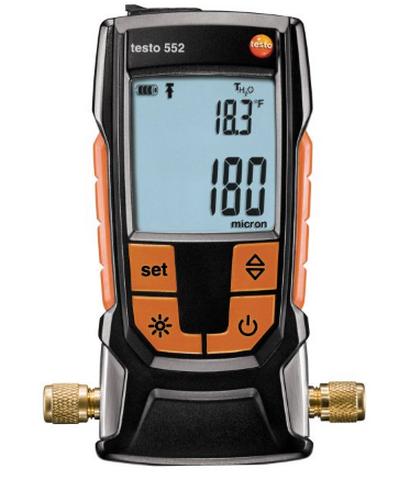 Купить Вакуумметр цифровой  Testo 552 c Bluetooth в официальном интернет-магазине оргтехники, банковского и полиграфического оборудования. Выгодные цены на широкий ассортимент оргтехники, банковского оборудования и полиграфического оборудования. Быстрая доставка по всей стране