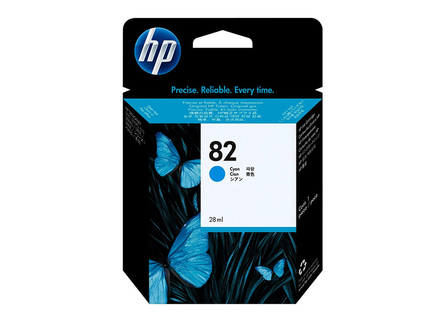 Картридж HP Inkjet Cartridge №82 Cyan 28 мл (CH566A) картридж hp inkjet cartridge 11 cyan c4836a
