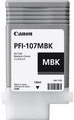 Картридж Canon PFI-107 MBK (матовый черный), 90 мл