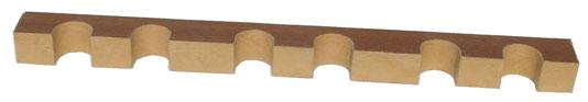 Верхний ложемент с отделкой кожей на 6 стволов bestsafe us8 12 l43
