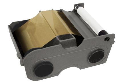 Картридж с лентой и чистящим валиком золотой металлик Fargo 45107