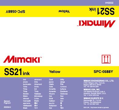 Чернила Mimaki SS21 Solvent Bulk Yellow