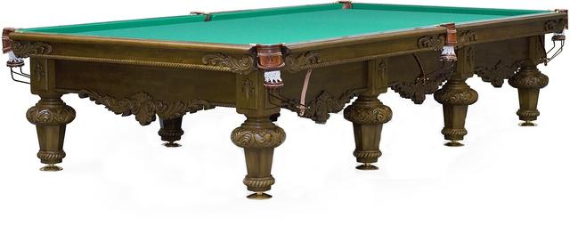 Бильярдный стол Русская пирамида Rococo (12 футов, черный орех)