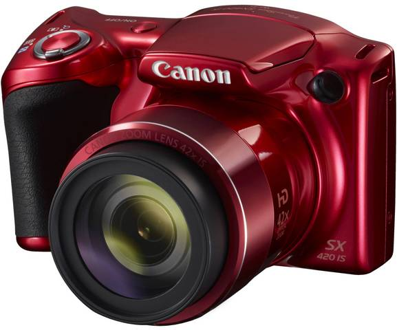 Компактный фотоаппарат Canon PowerShot SX420 IS (красный)