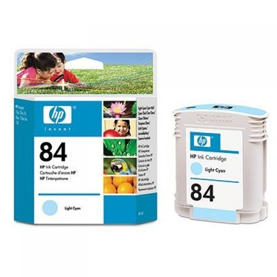 Картридж HP Inkjet Cartridge №84 Light Cyan (C5017A) картридж hp inkjet cartridge 11 cyan c4836a