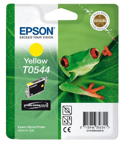 Картридж с желтыми чернилами Epson T0544 (C13T05444010) feuille 0544 салатник овальный v 200мг цвет белый с красным
