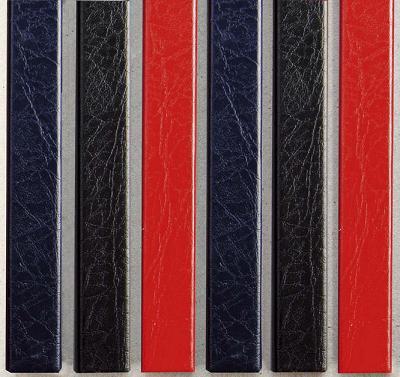 Цветные каналы с покрытием «кожа» O.CHANNEL Mundial А4 304 мм 28 мм, черные