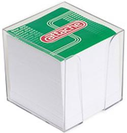 Блок-кубик в стакане 9х9х9см Attache белый, прозр. стакан Компания ForOffice 76.000
