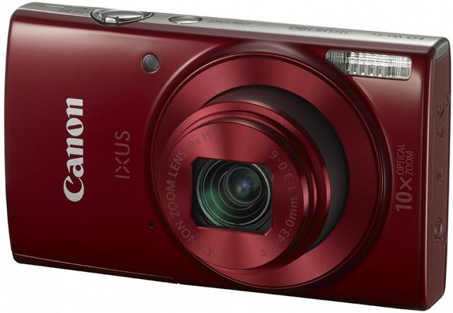 Компактный фотоаппарат Canon IXUS 180 (красный)