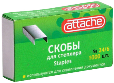 Скобы к степлеру N24/6 Attache (1000шт/уп) Компания ForOffice 12.000