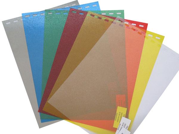 Обложки пластиковые, Кожа, A4, 0.18 мм, Желтый, 100 шт