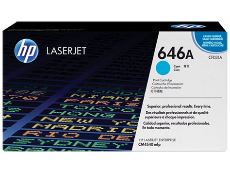 Тонер-картридж HP 646A CF031A картридж hp cf031a голубой для cm4540 cf031a