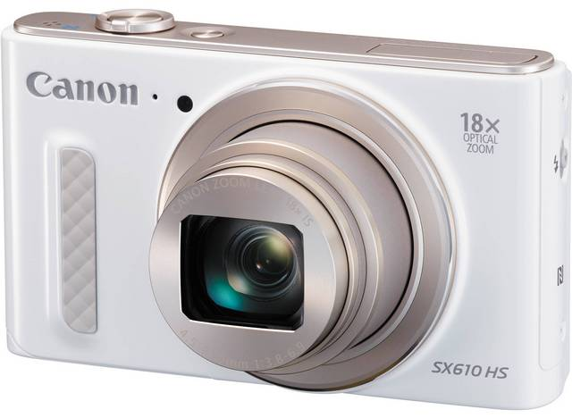 Компактный фотоаппарат Canon PowerShot SX610 HS (белый)