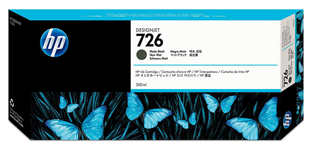 Картридж HP Pigment Ink Cartridge №726 Matte Black (CH575A) картридж hp pigment ink cartridge 72 matte black c9403a