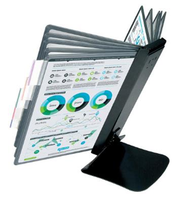 Настольная система ProMega Office с металлической основой (A4, черная)