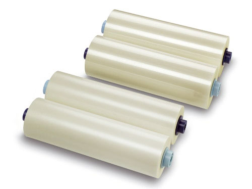 "Grafalex Рулонная пленка для ламинирования, Глянцевая, 32 мкм, 1400 мм, 150 м, 3"" (77 мм)"