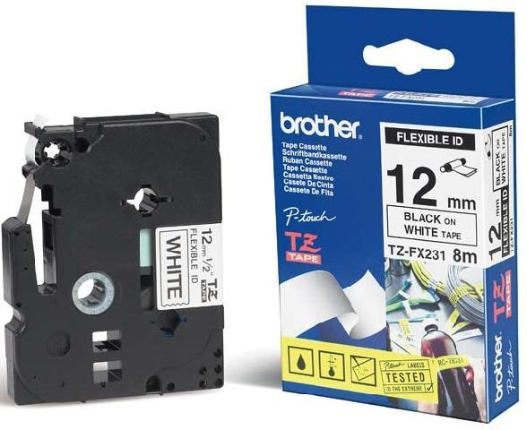 Плёнка для наклеек эластичная Brother TZ-FX231 Компания ForOffice 894.000