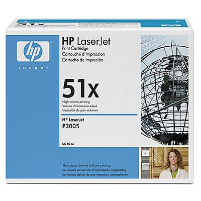Тонер-картридж HP Q7551X hewlett packard hp многофункциональная лазерная аппаратура для печати копии факса сканирования