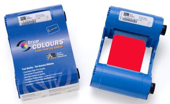 Монохромный красный картридж Zebra TrueColours 800033-802