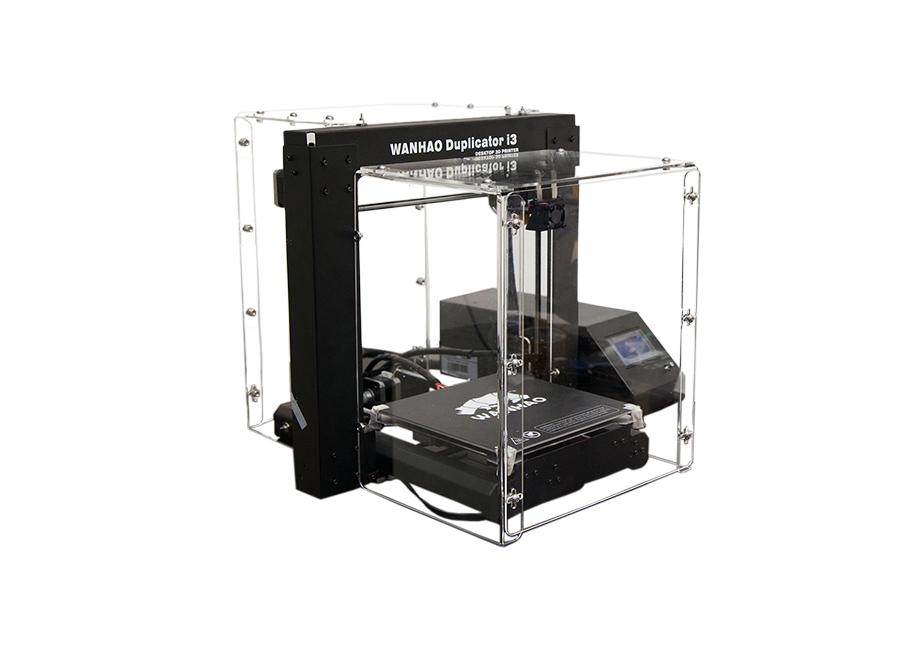 Duplicator i3 v2.1 в пластиковом корпусе (со стеклом) high precision desktop 3d printers 200 200 200mm printing size fdm technology workbench pla filament sd card and lcd
