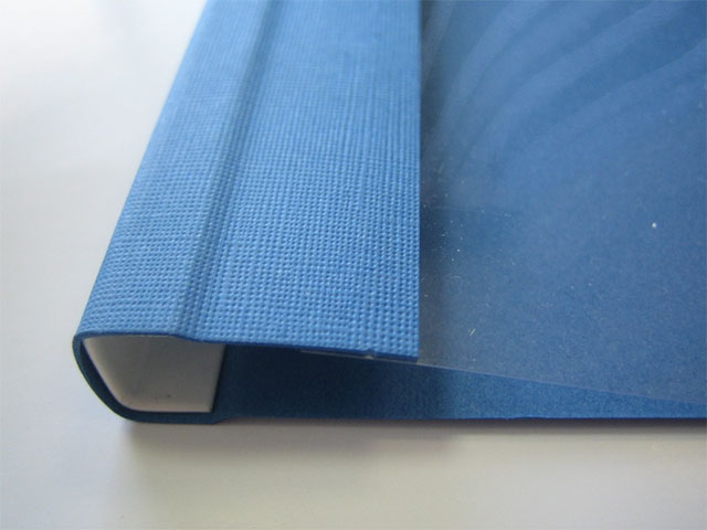 Мягкие обложки C-BIND A4 O.SOFTCLEAR C (16 мм) с текстурой «лен», синие
