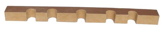 Верхний ложемент с отделкой кожей на 5 стволов