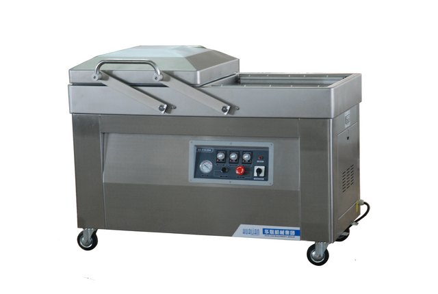 Напольная 2-x камерная вакуум-упаковочная машина HL DZ-410/2SA (нерж.)