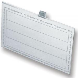 Бейдж 90x55мм   металлический зажим/ булавка (50шт)