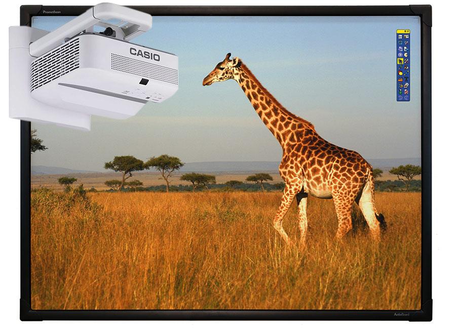 Интерактивная доска Touch 78 Dry Erase 10 касаний, ПО ActivInspire в комплекте с проектором Casio XJ-UT331X и настенным креплением YM-81 объектив для проектора sim2 m1 lens для sirio
