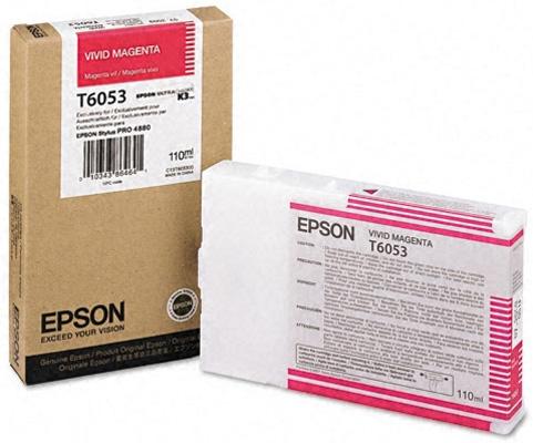 Картридж Epson C13T605300 Vivid Magenta