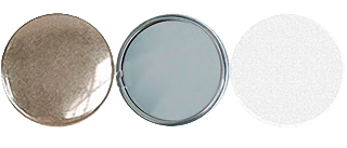 Заготовка для значков   d75 мм, зеркало, 100 шт