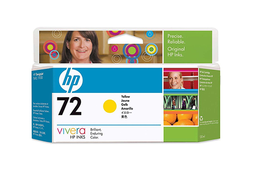 Картридж HP Pigment Ink Cartridge №72 Yellow (C9373A) картридж для принтера hp c8767he 130 black inkjet print cartridge